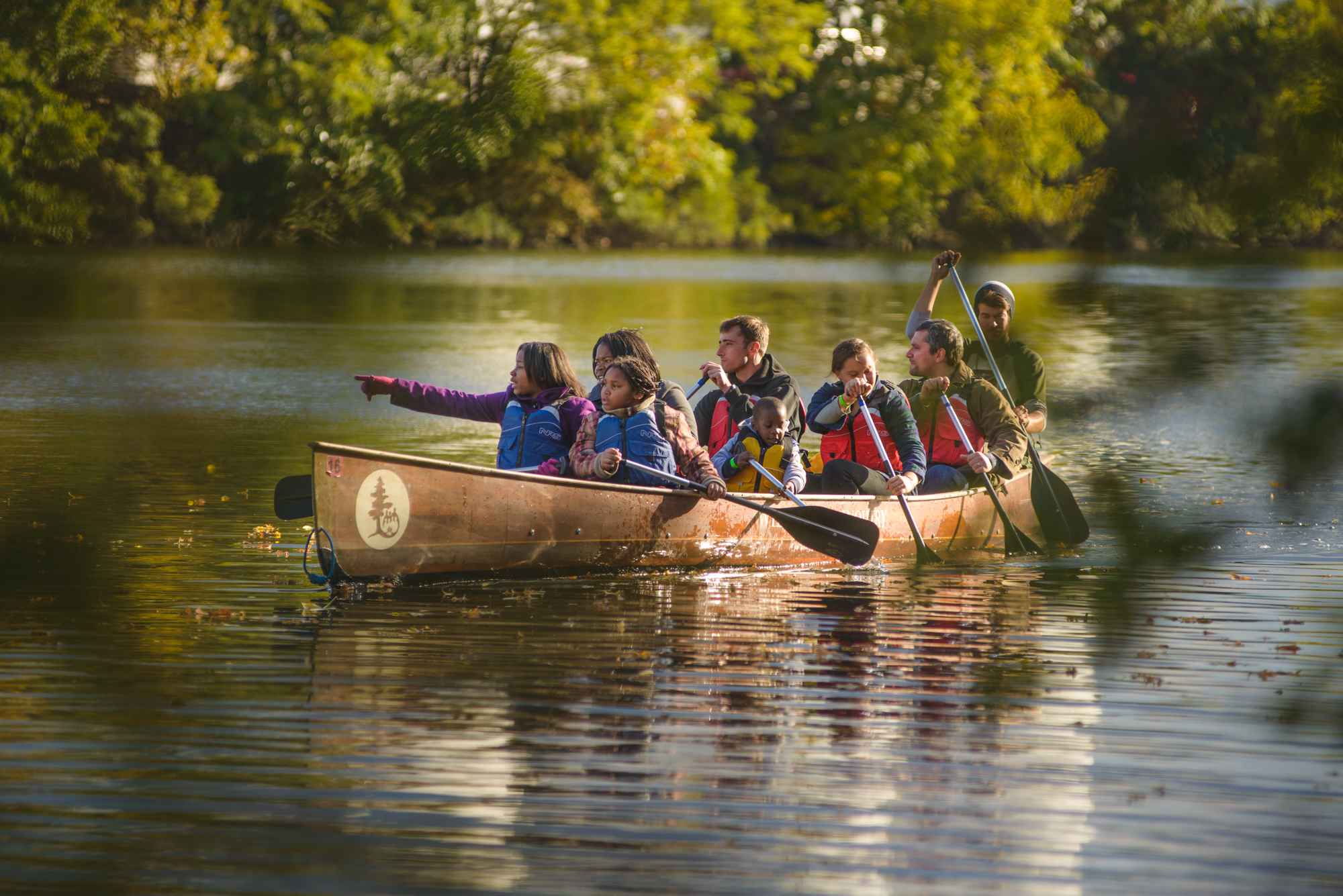 Canoeing on the Schuylkill River