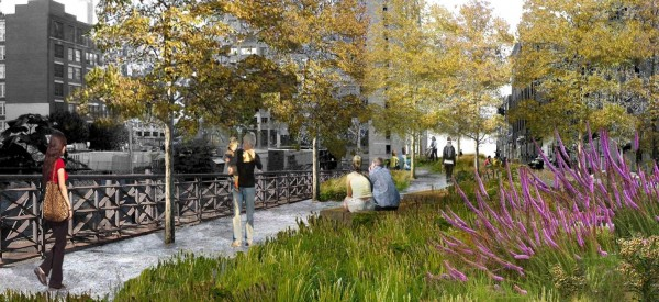 Viaduct Rendering Vegetation